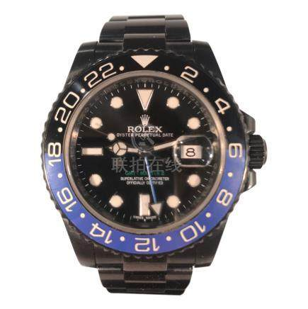 Rolex GMT Master II Batman, Aftermarket in Black Enamel