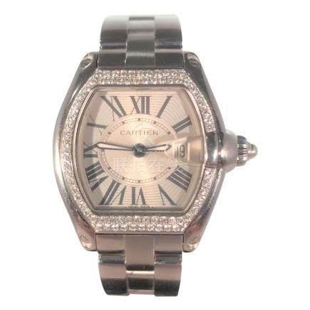 Cartier Roadster with Diamond Bezel