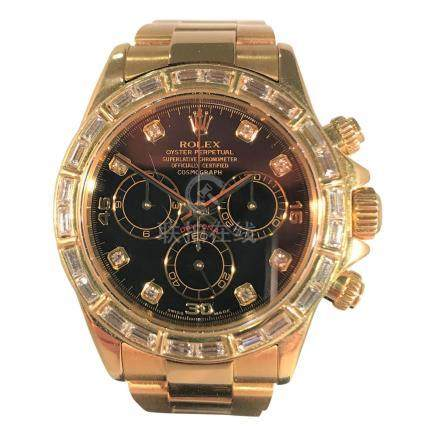 Rolex Daytona, 18K Yellow Gold with Diamond Bezel