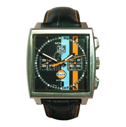 Tag Heuer Monaco Limited Edition Gulf Chronograph with Blue & Orange Stripe