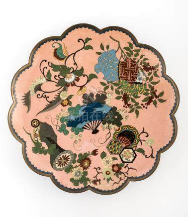 JAPANESE MEIJI PERIOD CLOISONNE CHARGER PLATE
