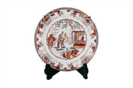 CHINESE CANTONESE ANTIQUE PLATE