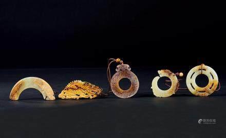 玉器掛飾 五件