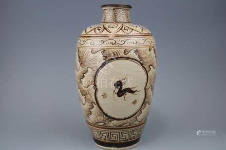 A Jizhou Ware Vase