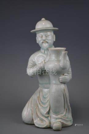 A Shadowy  Blue Ware Figure