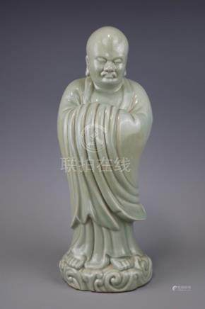 A Bean-Green Glazed Dharma
