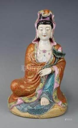Qianlong Mark, A Famille Rose Guanyin