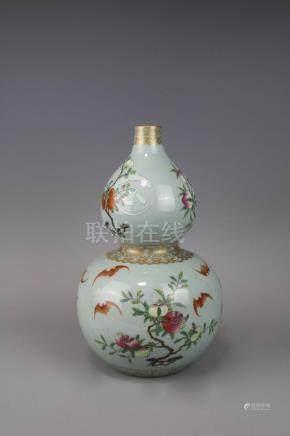 Qianlong Mark, A Famille Rose Vase