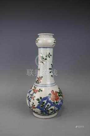 Kangxi Mark, A Famille Verte Vase