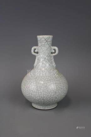 Qianlong Mark,A Ge Ware Vase