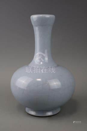 Qianlong Mark,A Light Blue Vase