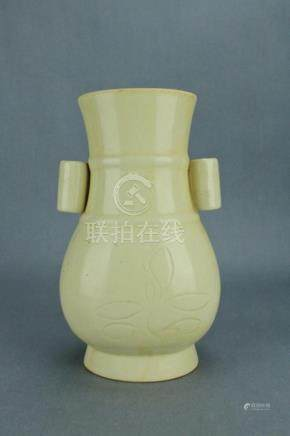 Song DingYao Porcelain Double Handle Vase
