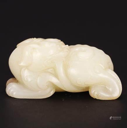 CHINESE WHITE JADE BEAST