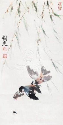 趙世光 - 柳下雙鳥