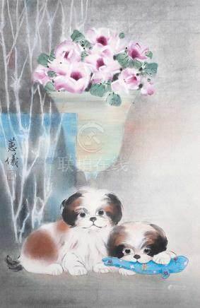 梁蕙儀 - 花卉小狗