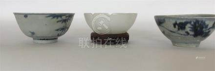 Two Chinese porcelain blue and white Cargo bowls t