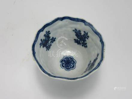 "Kangxi: Blue and White ""Flowers"" Cup"