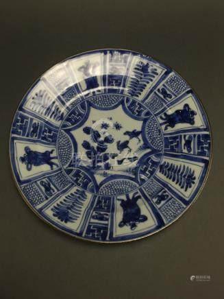 Kangxi: Blue and White Wildlife Dish