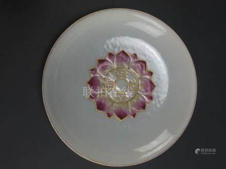 Daoguang: Famille-Rose Lotus Flower Dish