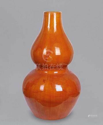 黃釉葫蘆大瓶