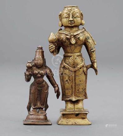 銅吉祥天女Lakshmi 二件