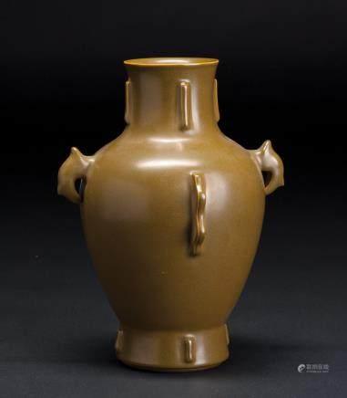 茶叶沫釉双耳瓶