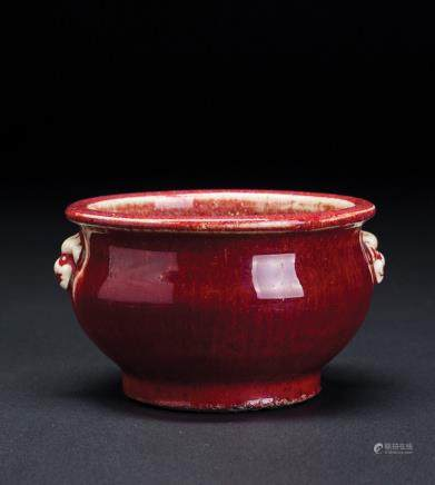 红釉铺首炉