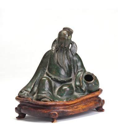 铜雕李白醉酒(含座)