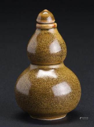 茶叶沫釉葫芦型鼻烟壶