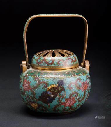 铜胎掐丝珐琅手炉
