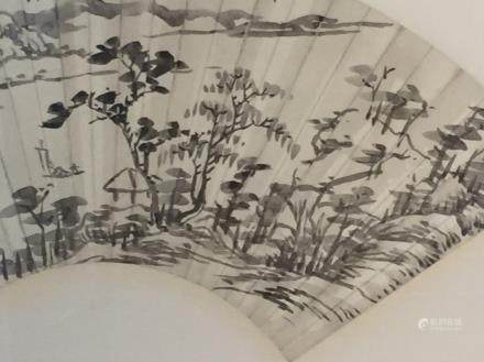 Chinese Fan Painting of Landcape
