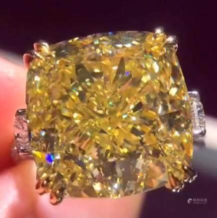 Yellow Color Diamond Ring