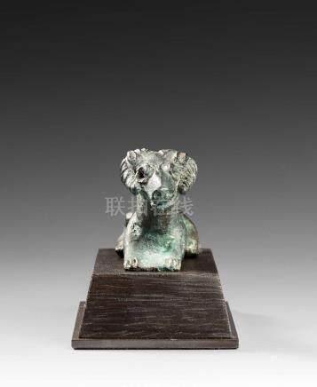 Bouquetin BronzeLevant, Canaan, Age du Bronze tardif, IIe millénaire av. J.-C.L 7,3 cmProven