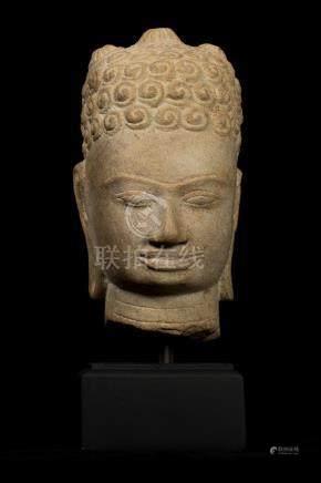 7th Century Style Khmer Buddha Head