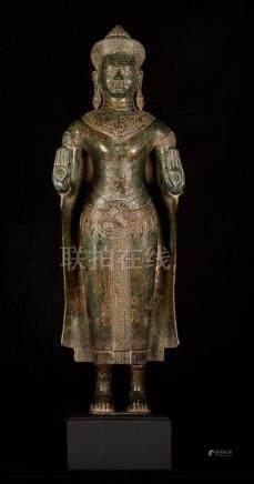 19th Century Lopburi Thai Protection Buddha