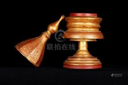 19th Century Antique Burmese Shwe Zawa Lacquerware