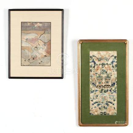Two Framed 19th Century Chinese Textiles