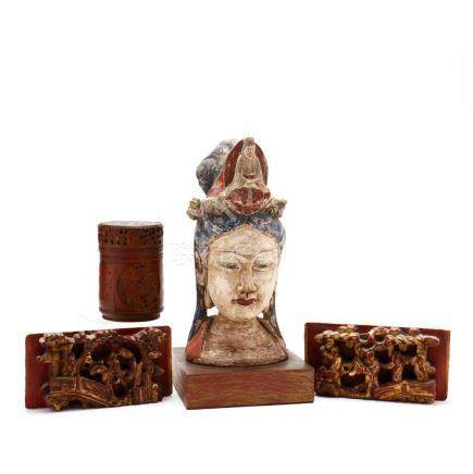 A Group of Chinese Decorative Items