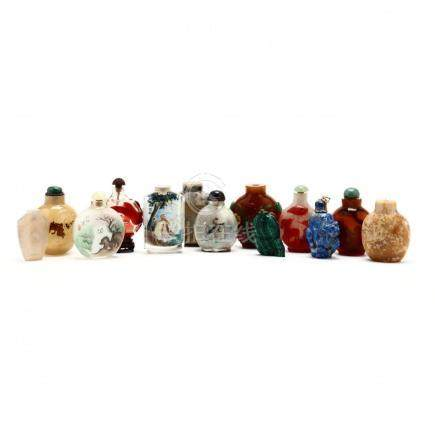 A Group of Thirteen Chinese Snuff Bottles