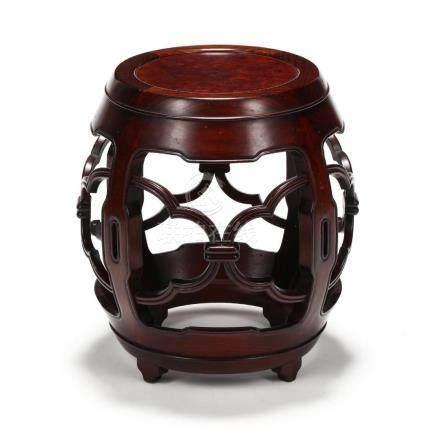 Chinese Hardwood Garden Stool