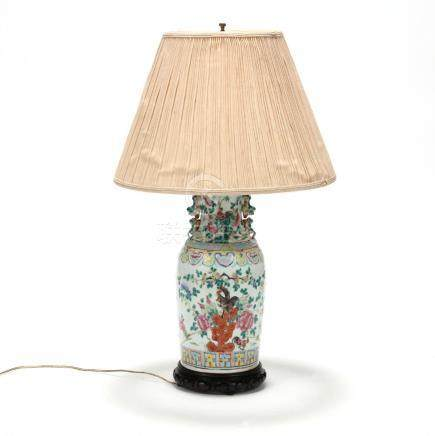 Chinese Export Table Lamp