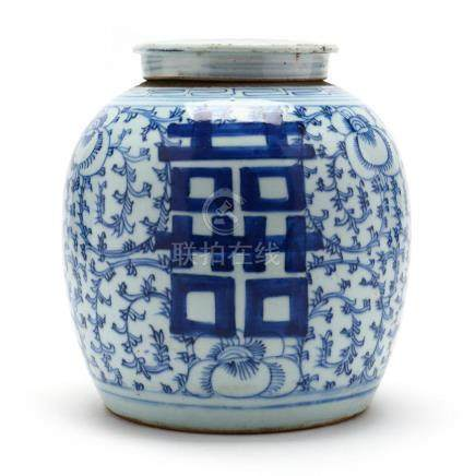 A Chinese Double Happiness Covered Ginger Jar