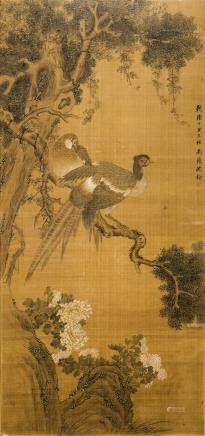 SHEN QUAN (ATTRIBUTED TO, 1682-1760), BIRD AND FLOWER