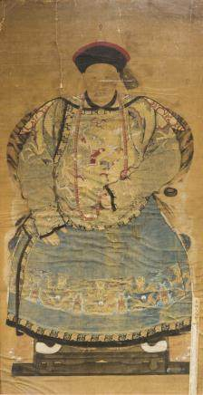 ANONYMOUS (QING DNASTY), THE PORTRAIT OF A GENERAL GUANGZHOU DURING QING QIANGLONG PERIOD