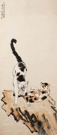 XU BEIHONG (1895-1953), TWO CATS