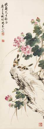 LIN YUSHAN (1907-2005), SPARROWS AND FLOWERS