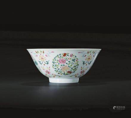 A FAMILLE ROSE 'FLOWER' BOWL, QING DYNASTY, JIAQING PERIOD