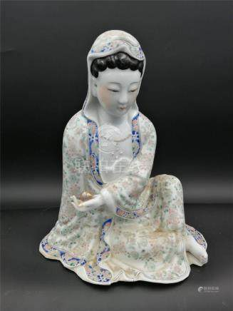 Chinese Famille Rose Guanyin