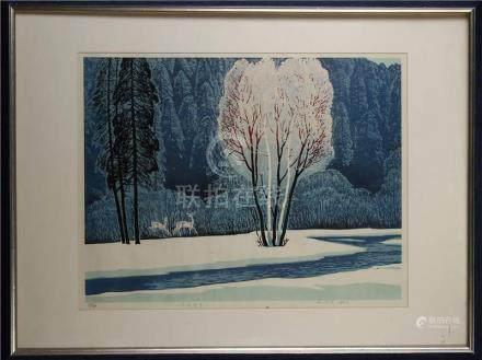 Wood Block Print by Yang Kaishen