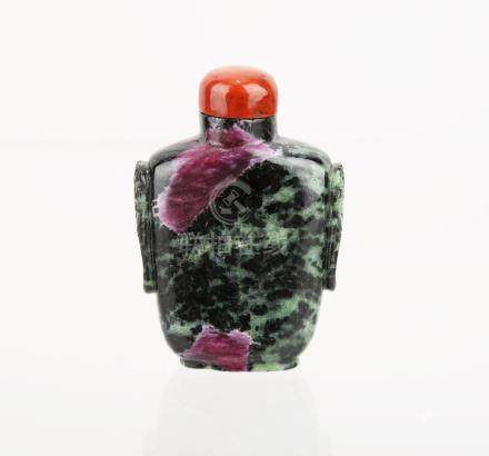 A CHINESE JADEITE SNUFF BOTTLE.Z047.
